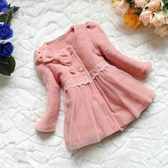 ce8a92daa Buy online stylish beautiful designer peach color winter jacket with puffed  sleeves for baby girl in