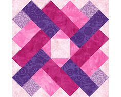 Siena Square Paper Pieced Quilt Block by PieceByNumberQuilts