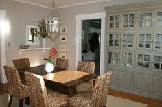 Gray Dining Room~Martha Stewart Sharkey Gray.