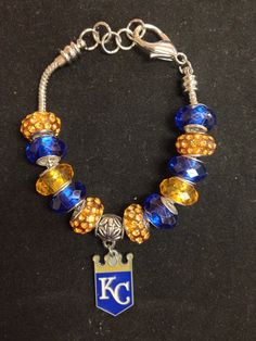 Kansas city royals baseball bracelet.