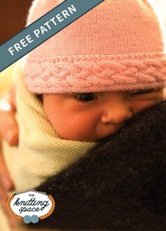 Braided-Edge Knitted Baby Hat [FREE Knitting Pattern] - Try your hands on this lovely knitted newborn baby hat that will make for a thoughtful handmade baby shower present. This pattern includes a free tutorial on Making Knitted Cables. Baby Knitting Patterns Free Newborn, Newborn Knit Hat, Knitted Baby Beanies, Cable Knitting Patterns, Baby Hat Patterns, Baby Hats Knitting, Newborn Hats, Free Knitting, Crochet Bebe