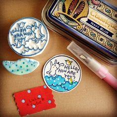 消しゴムはんこ *LuLu Cube* Eraser Stamp, Stamp Carving, Handmade Stamps, Stamp Printing, Simple Art, Cube, Stencils, Diys, Printmaking