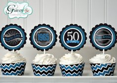 50th Birthday Cupcake Toppers 50th Birthday Decoration 50th Birthday Party 50th Birthday Party Favors Surprise Birthday Party & 40th Birthday Cupcake Toppers 40th Birthday Decoration 40th ...