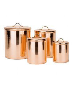 Look at this #zulilyfind! Copper Canister Set #zulilyfinds
