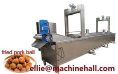 Pork Ball Frying Machine|Meatball Fryer Machine Email:ellie@machinehall.com