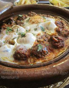 Moroccan Cuisine Marocaine: طجينْ الكْفْتَة وْ الْبيظْ/KBM/Moroccan Kefta Tagine with Tomato and Eggs!/Tajine Kefta Marocain aux Oeufs et Tomates (Kefta bel bayd w maticha)!