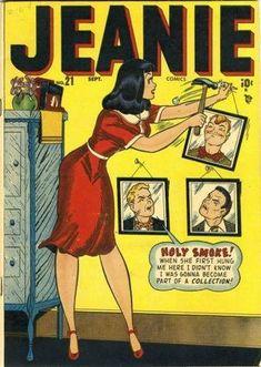Cover for Jeanie Comics series) Old Comic Books, Vintage Comic Books, Vintage Comics, Comic Book Covers, Vintage Pop Art, Retro Art, Retro Vintage, Romance Comics, Figure Poses
