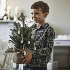 Mini Fir Christmas Tree | The White Company. Shopping from the US? -> http://us.thewhitecompany.com/Holidays/Christmas-Trees/Mini-Fir-Christmas-Tree/p/WGHMP?swatch=Green