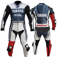 Yamaha Battalex one piece suit, made from premium quality top grain cowhide leather. Equipped with CE approved 9 piece protection. Ready to aggressive sports biking:)