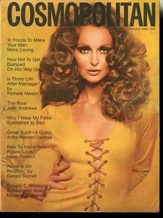 Samantha Jones for Cosmopolitan US October 1968 Sixties Fashion, Retro Fashion, Vintage Fashion, Vintage Style, 1960s Style, Vintage Vogue, Vintage Glamour, Vintage Vibes, Vintage Dress