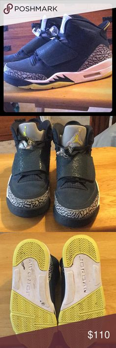 Shoes Air Jordan son of mars Men's size 8. My son wore them 3 times before outgrowing them... shoes were kept in original box. Near perfect condition. Note small scuff on outer sole(can be cleaned) Jordan Shoes Sneakers