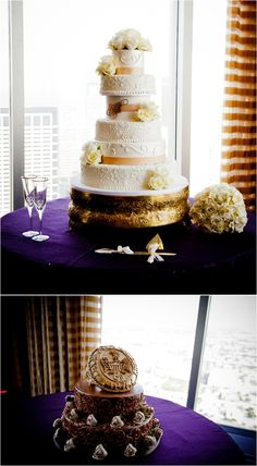 Six Tier Cake by Edible Designs by Jessie Petroleum Club Wedding by SB Image Studios