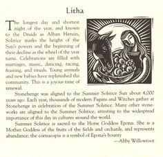 "Summer Solstice:  ""Litha,"" by Abby Willowroot."