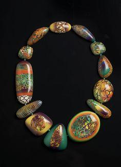 Melanie Muir - Reggae Necklace   #polymer_clay