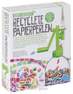 Recyclete Papierperlen Bastelset 111250