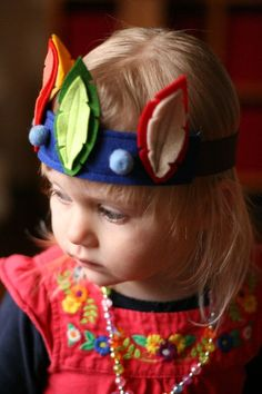 Feather Crown - Birthday - Dress up - Play - Felted Wool Headband