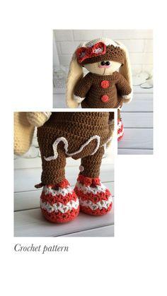 Crochet pattern amigurumi Crochet Bunny Pattern, Crochet Rabbit, Crochet Mouse, Crochet Patterns Amigurumi, Crochet Dolls, Amigurumi Toys, Handmade Toys, Handmade Ideas, Knitted Cat