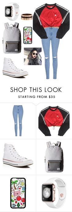 """Back to school"" by shania-collier on Polyvore featuring Glamorous, adidas, Converse, Herschel Supply Co. and Cartier"