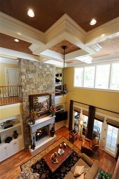 Two story Family Room - traditional - living room - other metro - by HOUCK Residential Designers