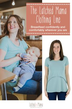 Nursing tops, tanks, tees, tunics, hoodies and more! Our nursing shirts offer coverage and easy breastfeeding access.