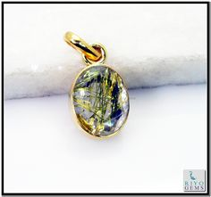 Rutile Quartz Cz Gemstones 18.Kt Y Gold Plating Holiday Pendants L 1in Gpprqcz-10602 http://www.riyogems.com
