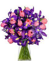 irisy a tulipány Glass Vase, Plants, Home Decor, Decoration Home, Room Decor, Plant, Home Interior Design, Planets, Home Decoration