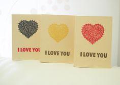 Biglietti San Valentino, Compleanno,Set biglietti di DiyCraftyScraps su DaWanda.com