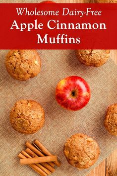 Healthy Apple Spice Muffins Recipe with Whole Grains and Maple Syrup (Dairy-Free with Nut-Free Option) Vegan Apple Muffins, Dairy Free Muffins, Apple Cinnamon Muffins, Dairy Free Milk, Healthy Cookie Recipes, Peanut Butter Recipes, Healthy Cookies, Dairy Free Recipes, Spice Muffin Recipe