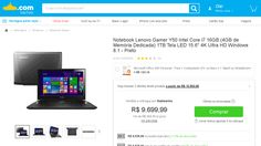[Submarino] Notebook Lenovo Gamer Y50 Intel Core i7 16GB ( 4GB de Memória Dedicada ) 1TB Tela LED 15.6 ´ 4K Ultra HD Windows 8.1 - Preto -…