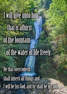 And he that sat upon the throne said; Behold; I make all things new. And he said unto me; Write: for these words are true and faithful. 6 And he said unto me; It is done. I am Alpha and Omega; the beginning and the end. I will give unto him that is athirst of the fountain of the water of life freely. 7 He that overcometh shall inherit all things; and I will be his God; and he shall be my son. 8 But the fearful; and unbelieving; and the abominable; and murderers; and whoremongers; and…