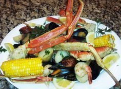 Corona Crab and Seafood Boil Recipe - going to be making and thoroughly enjoying this next week for my mom' birthday :)
