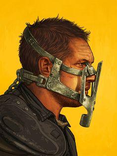 """Max Rockatansky"" Artist: Mike Mitchell Size: 12″x16″ Price: $55"