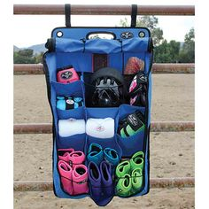 Professional's Choice Deluxe Hanging Organizer is perfect for the barn, stall or tailer. You might even want one for your own closet!