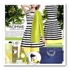 """www.romwe.com---4"" by ane-twist ❤ liked on Polyvore featuring moda, NYX, Givenchy, AERIN, Elizabeth Arden, Bulgari e romwe"