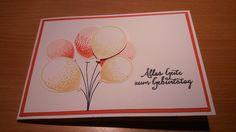 Ulli's Stempeloase : Geburtstagskarte, Stanze Luftballons, Partyballons, Stampin Up, 2016, Frühjahr Sommerkatalog