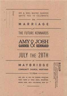 Wedding Invite on Behance