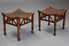 Antique Stools, Pair Of Walnut Thebes Stools Designed By Liberty. A pair of early century walnut Thebes stools, designed by Liberty & Co. Colonial Furniture, Liberty Furniture, Cabinet Makers, Arts And Crafts Movement, Antique Items, Modern Interior Design, Art Decor, Home Decor, Stools
