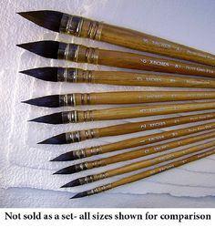Size 4 Arches Petit Gris Pur Squirrel Brush- Round Pointed Quill Series A5