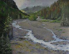Nisqually River by Nancy Romanovsky Oil ~ 16 x 20