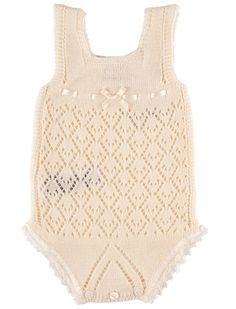Crochet newborn sun suit