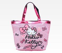 Hello Kitty Vinyl Bucket Bag: Pink Ribbon