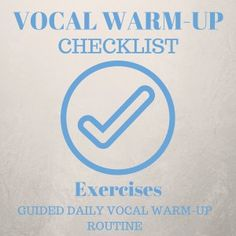 Vocal Warm-Up Check List Exercises AUDIOPROGRAM #singingtips