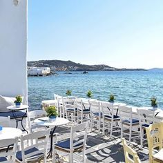 Take a seat and enjoy the end of the day in Little Venice, Mykonos   Credit to @claudia813   #ellada#ilovegreece#mykonos#