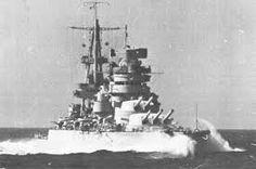Italian battleship Giulio Cesare - a heavily modernised WW1 design.