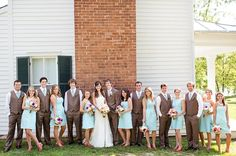 gorgeous wedding party, pink and blue rustic chic Southern wedding, Katelyn James Photography Groom And Groomsmen, Groom Attire, Southern Weddings, Tiffany Blue, Rustic Chic, Getting Married, Rustic Wedding, Fall Wedding, Wedding Colors