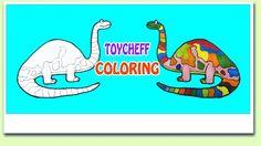 Colorful Drawing animals & Dinosaur for Kids | 동물들과 공룡 색칠하기