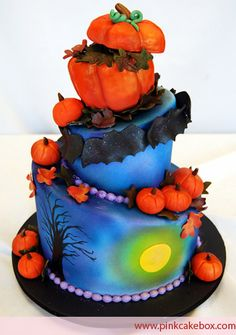 Halloween Cakes by Pink Cake Box in Denville, NJ.  More photos at http://blog.pinkcakebox.com/halloween-cakes-2008-11-01.htm  #cakes