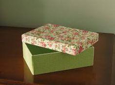 Resultado de imagen para caixas forradas em tecido