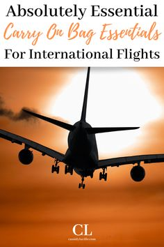 Carry on bag packing essentials for an international flight. Packing tips for a carry on bag for an international flight. Airplane Carry On, Airplane Travel, Packing Tips, Travel Packing, Travel Tips, Carry On Bag Essentials, Sleeping On A Plane, Best Carry On Bag, Natural Sleep Aids