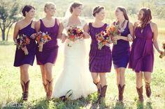 bridemaids' dresses.....aaannddd cowboy boots!!